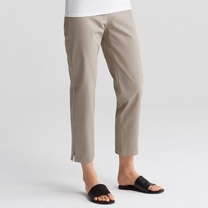 Eileen Fisher Organic Stretch Cotton Ankle Pants